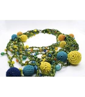 colier handmade colorat