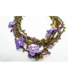 Colier multisir Violete